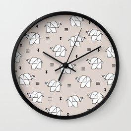 Origami elephant Wall Clock