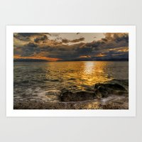 Somewhere behind The Clouds Art Print