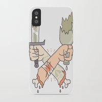 fight iPhone & iPod Cases featuring Fight! by Stefie Zöhrer