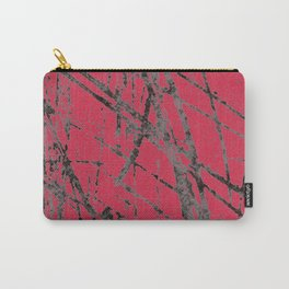 red black scratchy grunge Carry-All Pouch