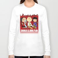 charlie brown Long Sleeve T-shirts featuring Charlie Of The Dead by Demetrius Marble