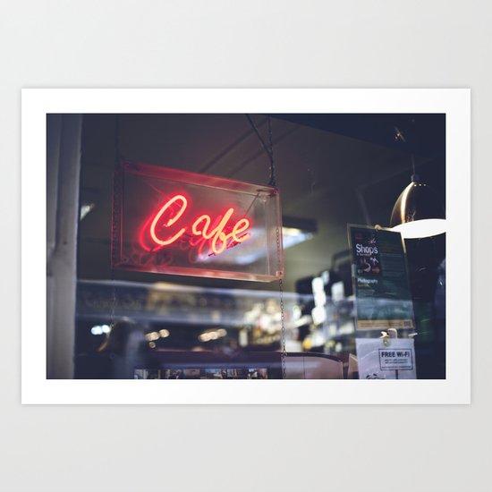 Camera Café Art Print