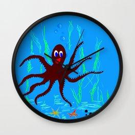 Happy polyp Wall Clock