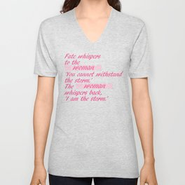 Fate Whispers pink Unisex V-Neck