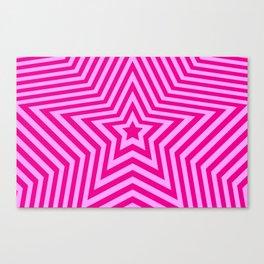 Stars - pink vers. Canvas Print