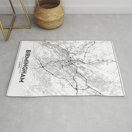 Minimal City Maps - Map Of Birmingham, Alabama, United States Rug