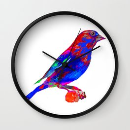 Jeweled Finch Wall Clock