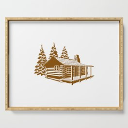 A Cabin in the Woods Serving Tray