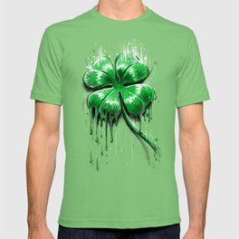 Four Leaf Clover Melting Luck T-shirt