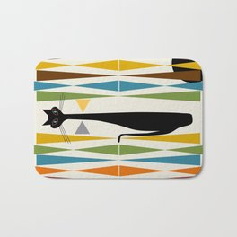 Mid-Century Modern Art Cat 2 Bath Mat