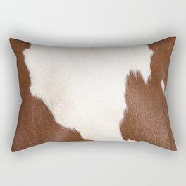 Brown Cowhide v4 Rectangular Pillow