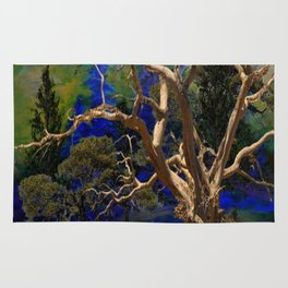 CONTEMPORARY BLUE  WILDERNESS ART  DESIGN Rug