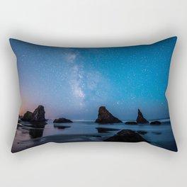 USA Stars Bandon Beach, Oregon beaches Sea Crag Nature Sky Sunrises and sunsets Water Horizon Beach Rock Cliff sunrise and sunset Rectangular Pillow