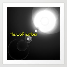 The wolf number Art Print