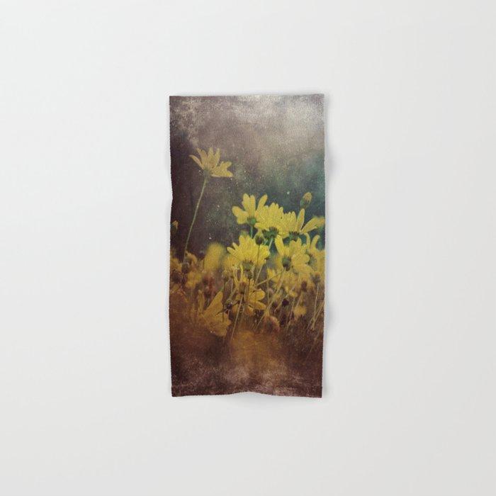 Abstract Yellow Daisies Hand & Bath Towel