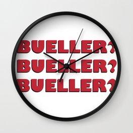 Bueller? Bueller? Bueller? 80s Movie Style Logo, Original Wall Clock
