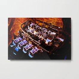 Powerful Car Engine Color Metal Print