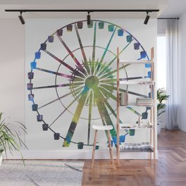Technicolor Ferris Wheel Wall Mural