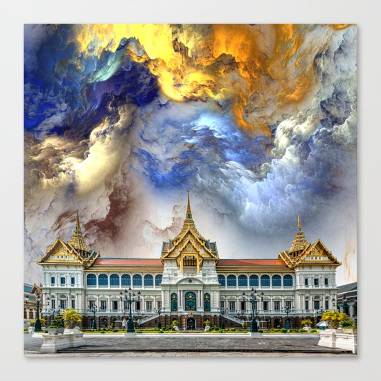 Palace in heaven Canvas Print