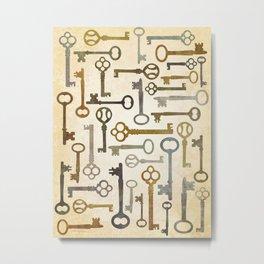 Vintage Keys Metal Print