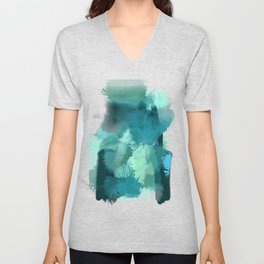 Abstract Jade Color Story Unisex V-Neck