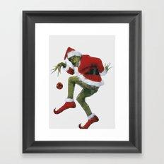 Christmas Grinch Framed Art Print
