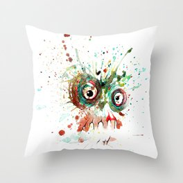 buzzed zombie Throw Pillow