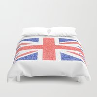 british flag Duvet Covers featuring The Intricacies of the British Flag by VanZandesign