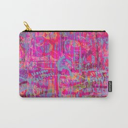 Pink Graffiti Carry-All Pouch