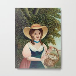Henri Rousseau - Woman with Basket of Eggs Metal Print