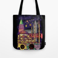 istanbul Tote Bags featuring Istanbul  by Aleksandra Jevtovic