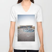 oasis V-neck T-shirts featuring The Oasis by Jeffrey Stroup