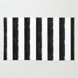 minimalist black painted stripes Rug