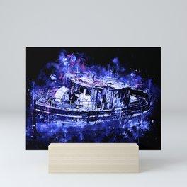 old ship boat wreck ws db Mini Art Print