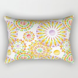 Sunburst Rainbows Rectangular Pillow