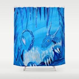 Ice Cavern Dragon Shower Curtain
