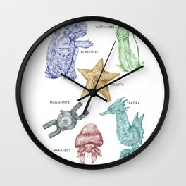 Species of Pocket Monsters - Colour Wall Clock