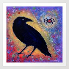 Mr. Raven, Meet Miss Spider Art Print
