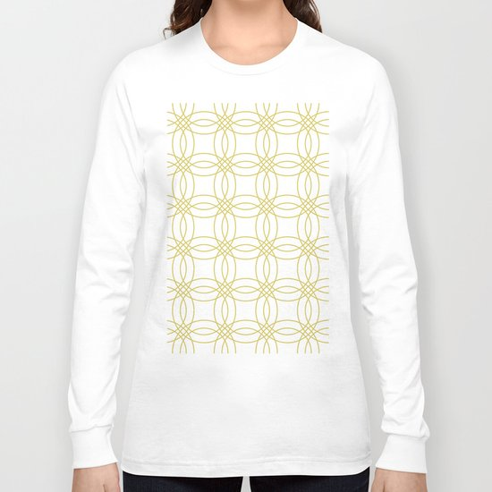 Simply Vintage Link Mod Yellow on White Long Sleeve T-shirt