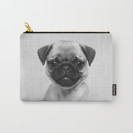 Pug Puppy - Black & White Carry-All Pouch