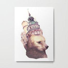Czesky Bear Metal Print
