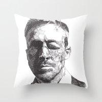 ryan gosling Throw Pillows featuring Ryan by Rik Reimert