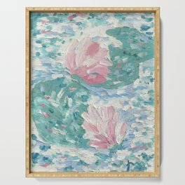 Ninfee. Waterlilies. Nynphéas Serving Tray