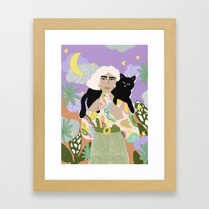 Witchy Woman Framed Art Print