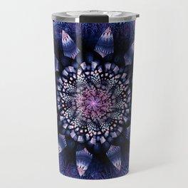Mandala Flower Ultra Violet Art Travel Mug