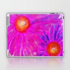 Bright Pink Sketch Flowers Laptop & iPad Skin