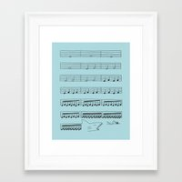 jaws Framed Art Prints featuring Jaws by I Love Doodle