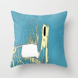 Cold Cave Throw Pillow