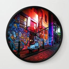 Evening in Hosier Lane Wall Clock