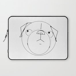 Pug Crop Cirlces Laptop Sleeve